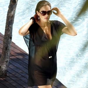 Tunica da spiaggia Panache Swimwear Anna - Nero