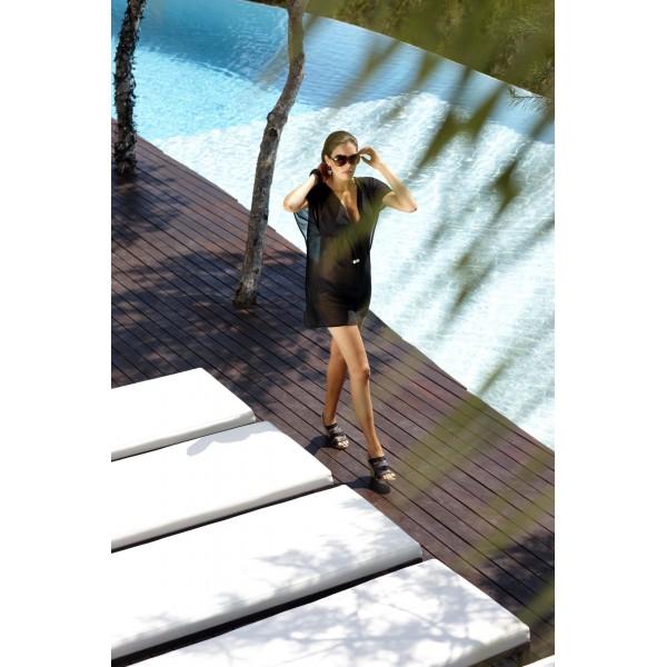 Tunica da spiaggia panache swimwear anna nero bradiso - Panache costumi da bagno ...