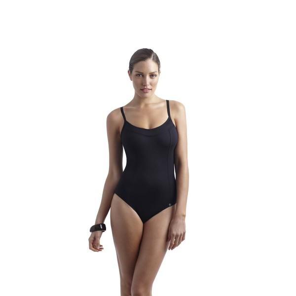 Costume da bagno intero panache swimwear anna nero bradiso - Costume da bagno intero a pantaloncino ...